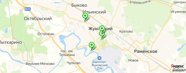 рестораны с живой музыкой на карте Жуковского