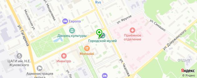 музеи на карте Жуковского