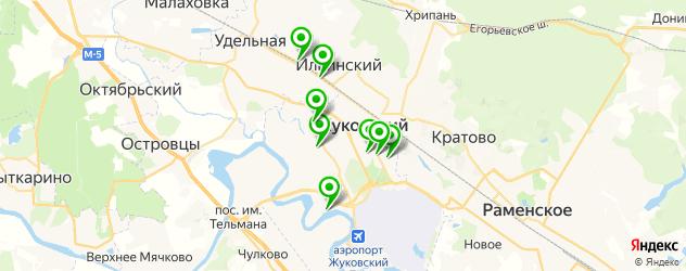 сауны на карте Жуковского