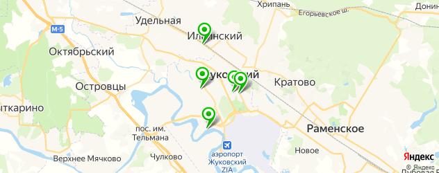 сауны с бассейном на карте Жуковского