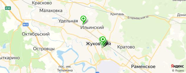 больницы на карте Жуковского