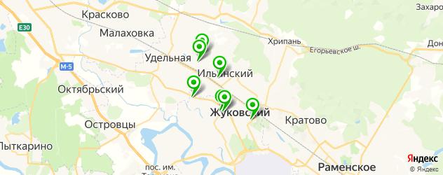 детские поликлиники на карте Жуковского