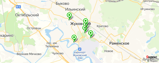 спортивные секции на карте Жуковского