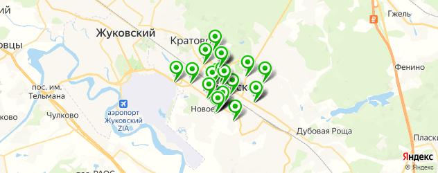 Авто на карте Раменского