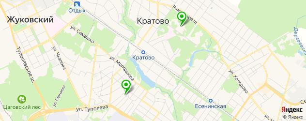 санатории на карте Раменского