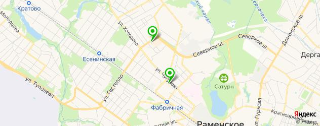 тренажерные залы на карте Раменского