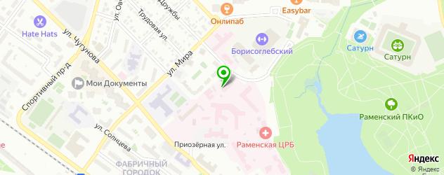 детские больницы на карте Раменского