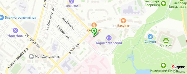 инфекционные больницы на карте Раменского
