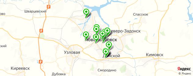 больницы на карте Новомосковска