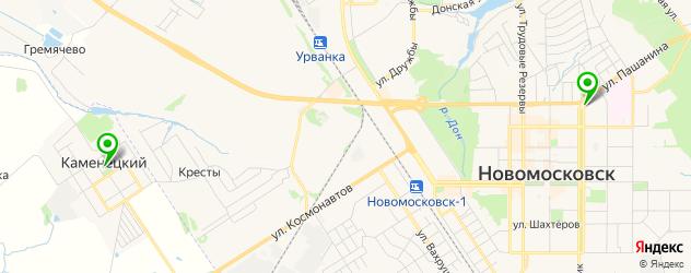 культурные центры на карте Новомосковска