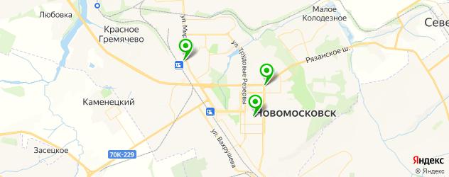 мотосалоны на карте Новомосковска