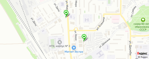 пекарни на карте Новомосковска