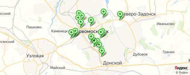 замена сайлентблоков на карте Новомосковска