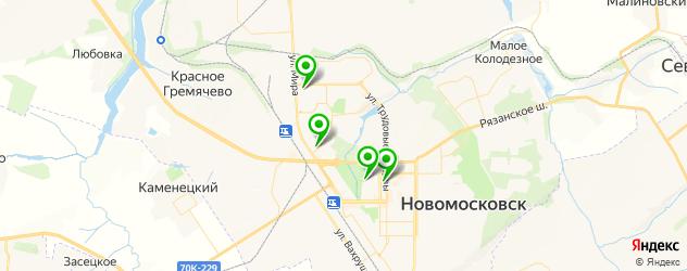 фотостудии на карте Новомосковска