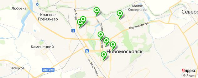 сауны с бассейном на карте Новомосковска