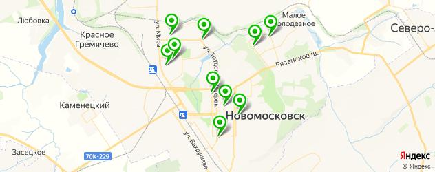 бани на карте Новомосковска