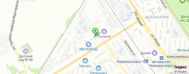 бассейны на карте Новомосковска
