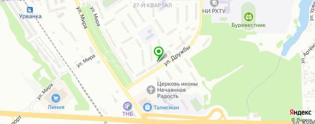 зоопарки на карте Новомосковска