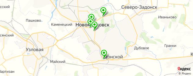 детские развлекательные центры на карте Новомосковска