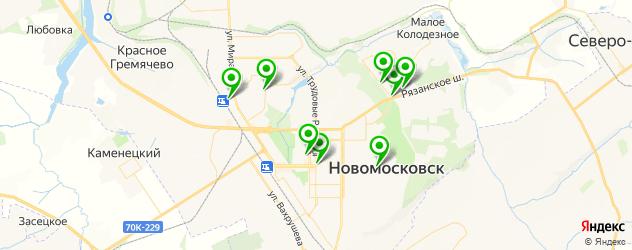 массажные салоны на карте Новомосковска