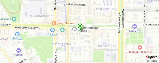 НИИ на карте Новомосковска