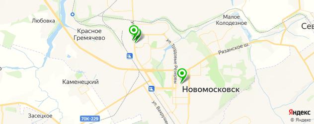 художественные школы на карте Новомосковска