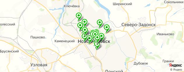 свадьба на карте Новомосковска
