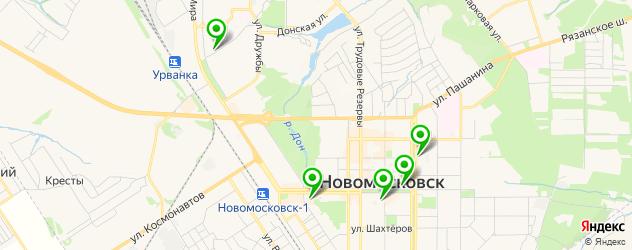 японские рестораны на карте Новомосковска