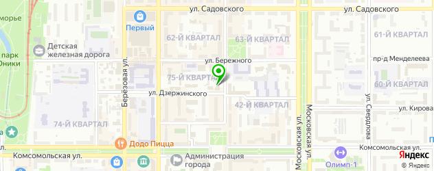 пивные рестораны на карте Новомосковска