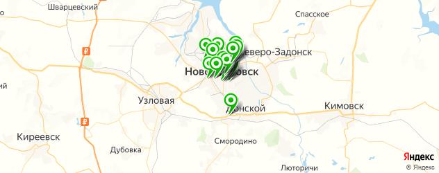 салоны красоты на карте Новомосковска
