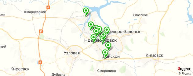 библиотеки на карте Новомосковска