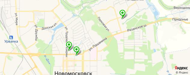 детские стоматологические поликлиники на карте Новомосковска