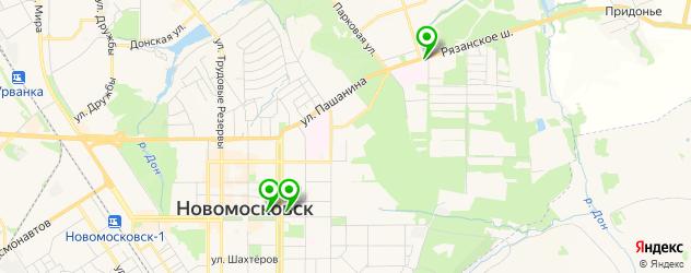 русские рестораны на карте Новомосковска