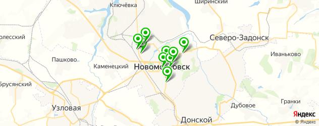 спорты-бары на карте Новомосковска