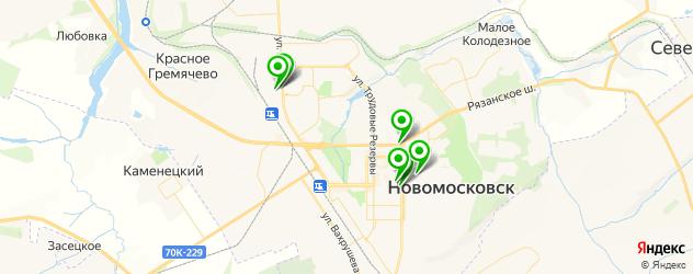 бары с танцполом на карте Новомосковска