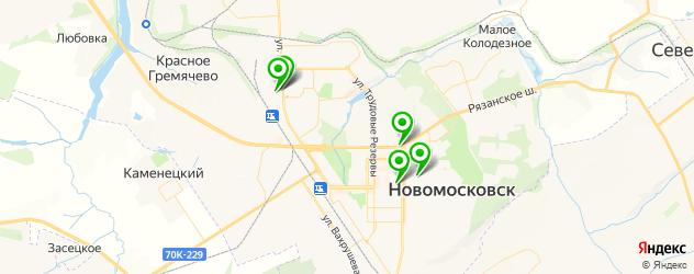 бары с живой музыкой на карте Новомосковска