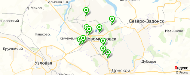 прокатка дисков на карте Новомосковска