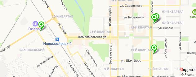 ортопедические магазины на карте Новомосковска