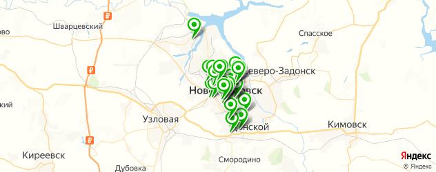 детские сады на карте Новомосковска