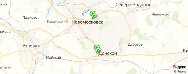 женские консультации на карте Новомосковска