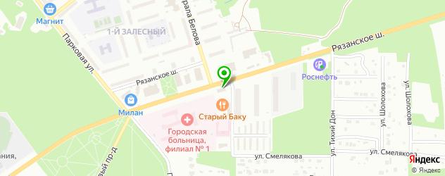 рестораны с детской комнатой на карте Новомосковска