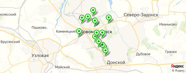 автомойки на карте Новомосковска