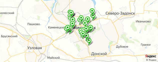 Авто на карте Новомосковска