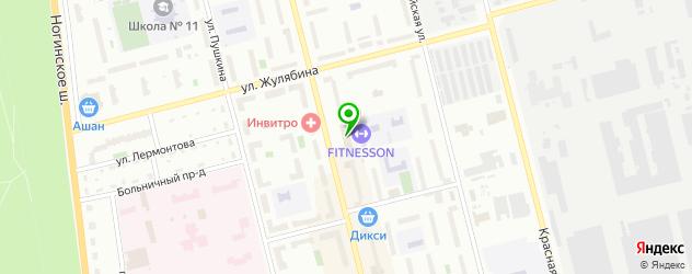 сервисные центры Хайскрин на карте Электростали