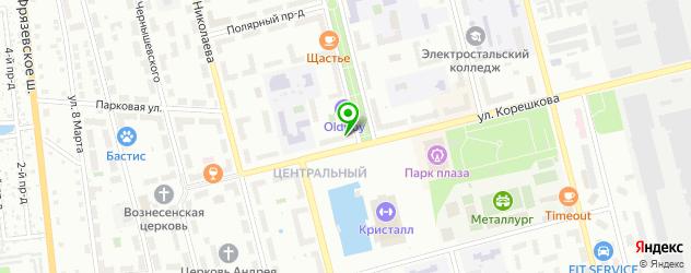 салоны бровей на карте Электростали