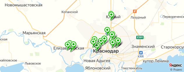 автошколы на карте Прикубанского округа