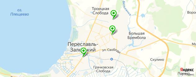 Авто на карте Переславля-Залесского
