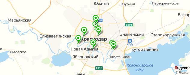 парки отдыха на карте Краснодара