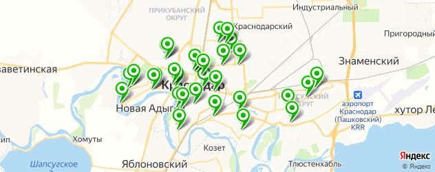 детские стоматологические поликлиники на карте Краснодара