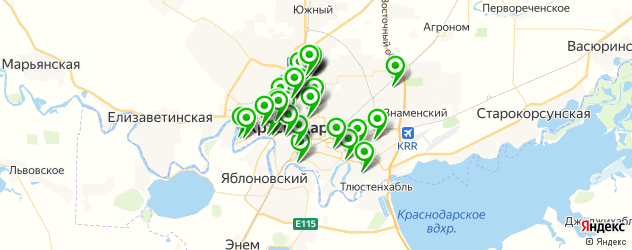 мастерские на карте Краснодара